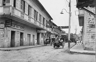 Army & Navy YMCA, Hostpital San Juan de Dios is on the right, Intramuros, Manila, Philippines, early 20th Century | by J. Tewell