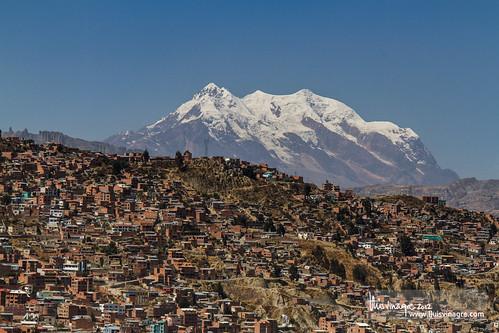 bolivia andes lapaz sopocachi nevadoillimani miradordelmontículo snowedcapped
