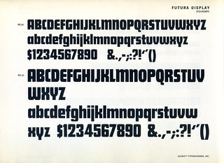 Futura Display type specimen | by Dunwich Type