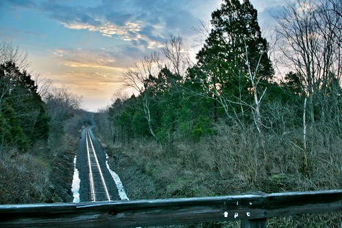 railroad morning bridge winter light sun color tree water clouds sunrise canon dawn skies cloudy pov kentucky ky hill wide january rr louisville f8 hdr baretree multiexposure leadinglines jeffersoncounty 2013 tonemap