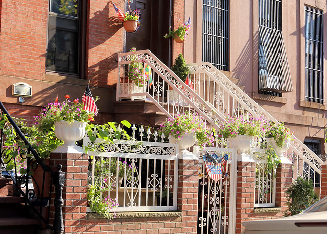 Fancy Entrance of a Brownstone Building in Bed-Stuy