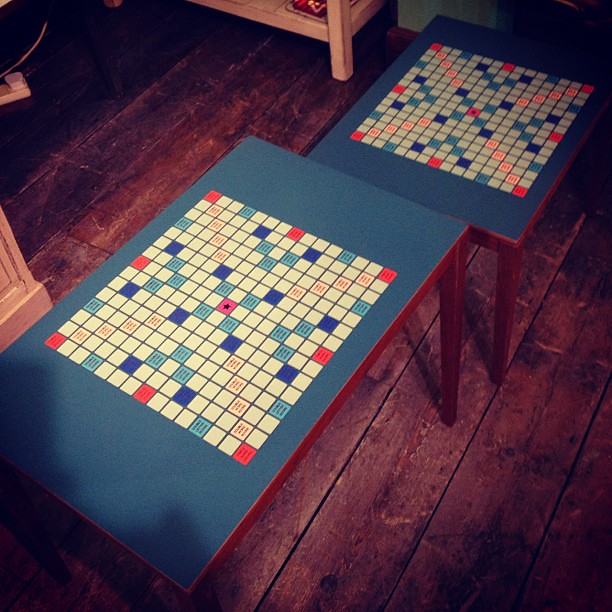 Surprising Coffee Tables Upcycled Into Scrabble Tables Want Flickr Uwap Interior Chair Design Uwaporg