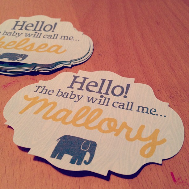 Baby Shower Name Tags Pam Kroll Anderson Flickr