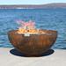 Big Bowl O Zen Sculptural Firebowl Print Quality Photos