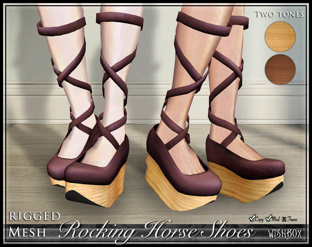 Rocking Horse Shoes (Plum)