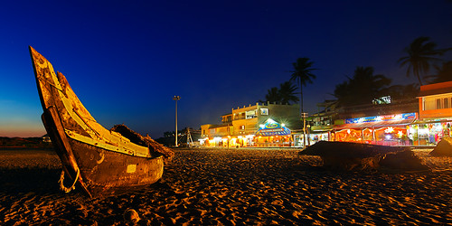 blue sunset lighthouse india beach night evening boat twilight fishing kerala hour nightlife trivandrum kovalam