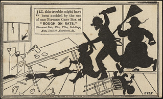 All this trouble might have been avoided by use of one fifteen cent box of 'Rough on Rats.' [front]