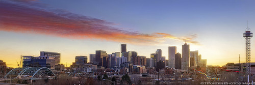 panorama skyline interesting colorful cityscape vibrant vivid denver professional exciting detailed tylerporter