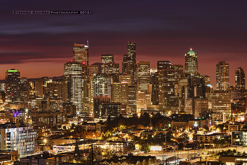 seattle longexposure clouds sunrise cityscape downtownseattle seattleskyline d600 columbiatower nikond600 bhykrackepark