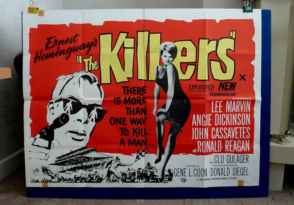 The killers Angie Dickinson vintage movie poster print