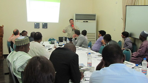 Mr Paul Makepeace of The African Fertilizer and Agribusiness Partnership, Johannesburg, South Africa making a presentation | by Propcom Mai-karfi