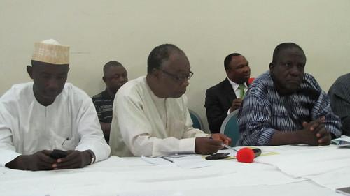 (L-R) Alhaji Hayatudeen Sani of Interproducts Link, Prof Ode Ojuwu of Country Policy Centre and Alhaji I.A Buba of FDD | by Propcom Mai-karfi