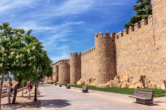 Wall city of Avila, Spain
