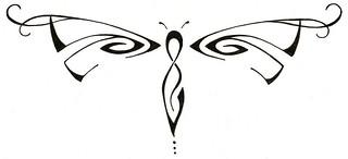 Tribal Dragonfly Tattoo Design Original Tattoo Design Drag Flickr