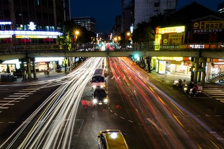 A long exposure of the traffic in Taipei, Taiwan. | by matthewwu88