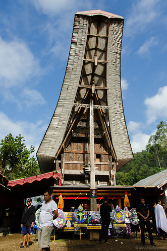 Traditional Toraja house at a funeral | by Jerome Nicolas