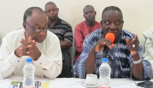 Mr I.A Buba of Federal Fertiliser Department making a remark while Pro Ode Ojowu listens | by Propcom Mai-karfi