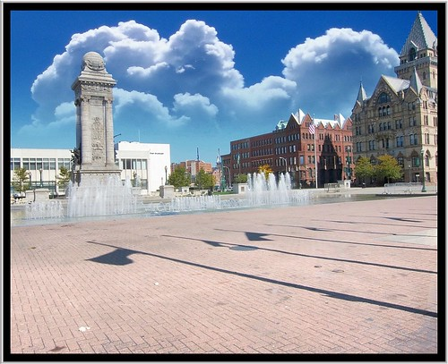 county ny newyork building tower clouds square canal site memorial war downtown state district clinton bank civil syracuse historical erie fountains savings gridley onondaga nrhp onasill