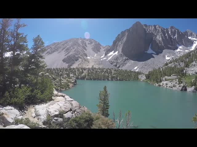 0544 GoPro video panorama of Third Lake with Temple Crag from the North Fork Big Pine Creek Trail