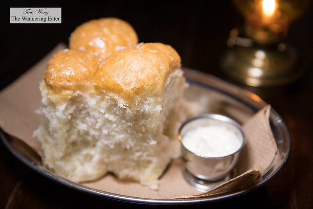 House made Parker House rolls served with butter blended with rendered duck fat