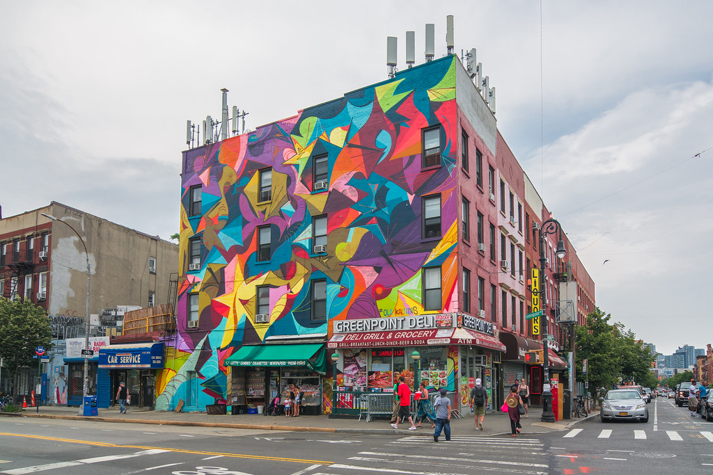 Ola Kalnins mural in Greenpoint, Brooklyn, New York City | Flickr