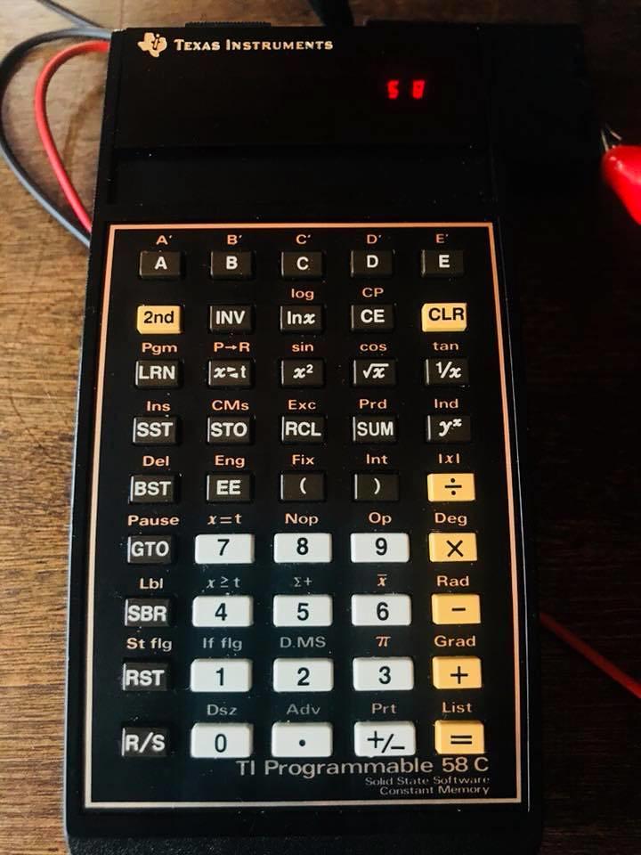 Texas Instruments TI-58C programmable calculator (1979)   Flickr