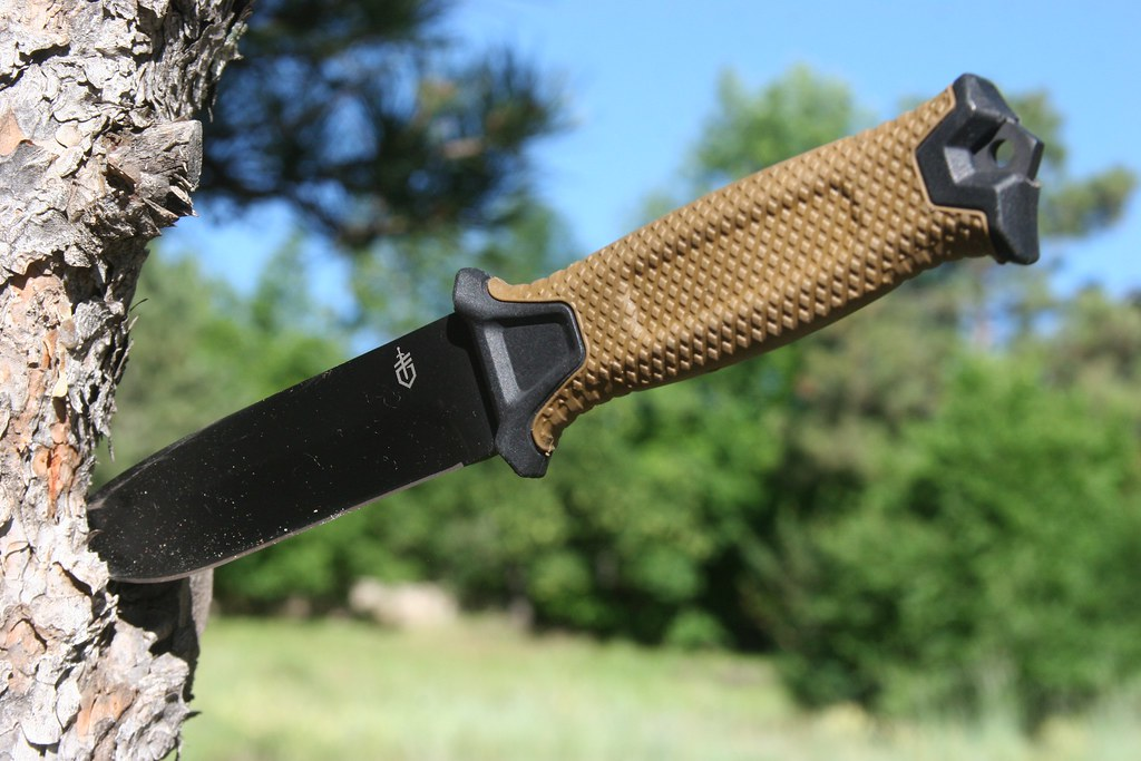 Gerber StrongArm Knife Blade Test on a Tree