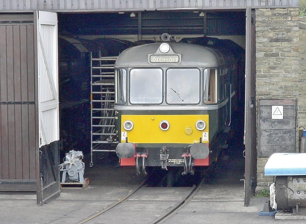 Waggon Und Maschinenbau Railbus, Haworth. Keighley & Worth Valley Railway, September 2007 by Crewcastrian
