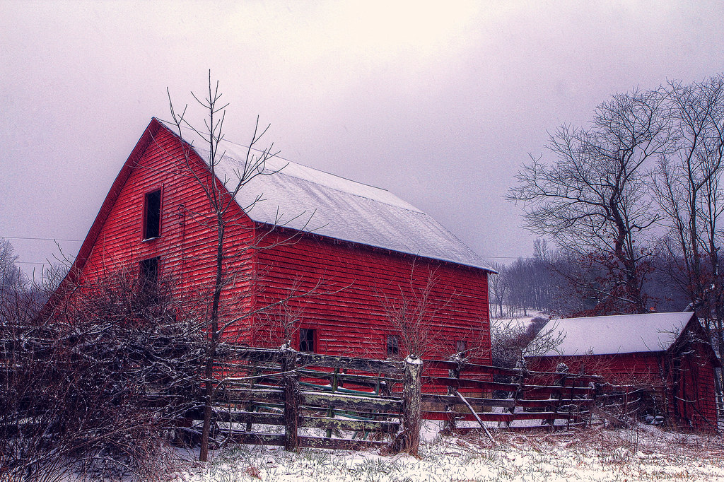 The Barn in Winter | View On Black Jigsaw Explorer recently