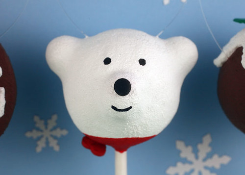 Polar Bear Cake Pop Ornament | by Bakerella