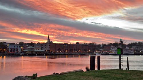 sky clouds waterfront riverfront wilmington d800 wilmingtonnc capefearriver battleshipnorthcarolina