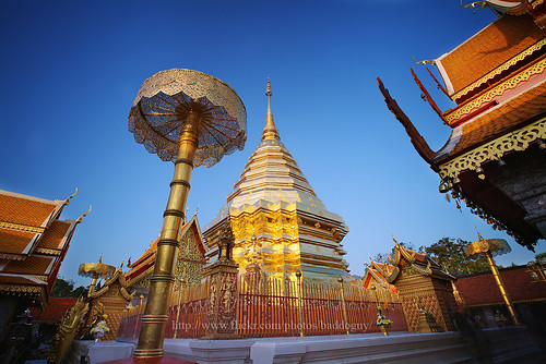 morning travel blue sky people tourism architecture sunrise thailand temple golden pagoda amazing long exposure buddhist scenic culture buddhism landmark icon images tourist thai getty wat northern iconic gettyimages doi suthep chinagmai gettyimagesstock