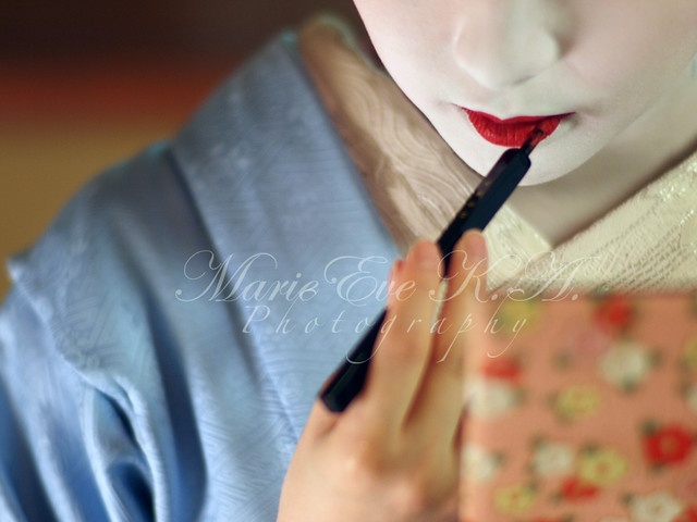 maquillage ; 紅を指す