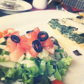 Mmm I love #salad #quiche too.. #foodporn | by ultimatephili