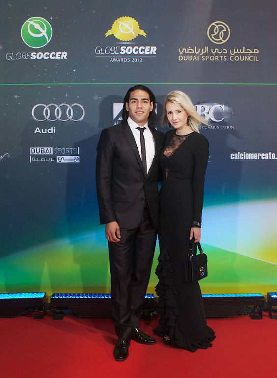 Radamel Falcao and Lorelei Taron