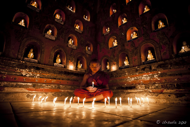 Novice with Candles 2846