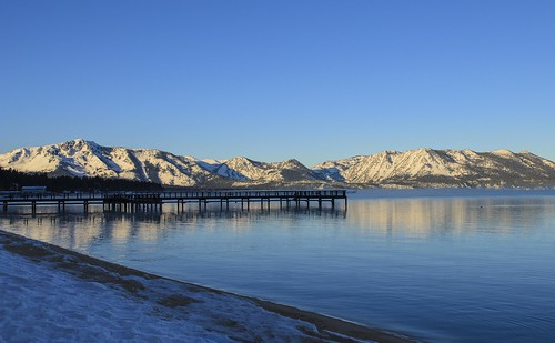 california morning blue winter sky lake snow mountains beach sunrise pier early sand day south nevada tahoe shore covered stateline nrpad