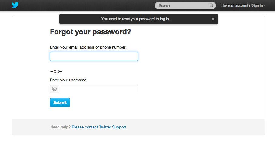 Twitter / Resend Password | blog twitter com/2013/02/keeping