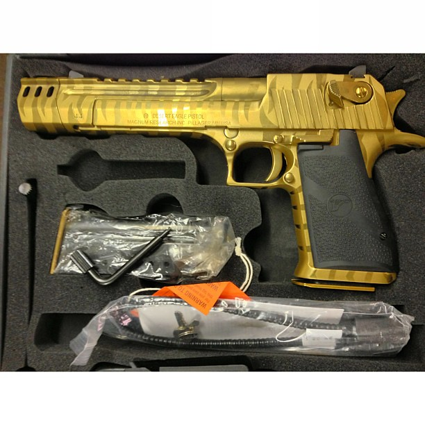 Magnum Research Desert Eagle Titanium Gold Tiger Stripe In Flickr