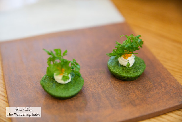 Tarragon and herb financiers (first snack)