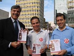 Deputado Jurandir Maciel, vereadore eleito de Porto Alegre Elisandro Sabino e dep federal Ronaldo NOgueira