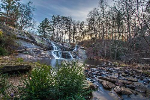 landscape waterfall unitedstates northcarolina wideangle hdr valdese mcgalliardfalls 32bitexposureblending