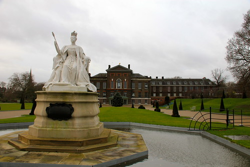 Statue of Queen Victoria Outside of Kensington Palace   by danxoneil