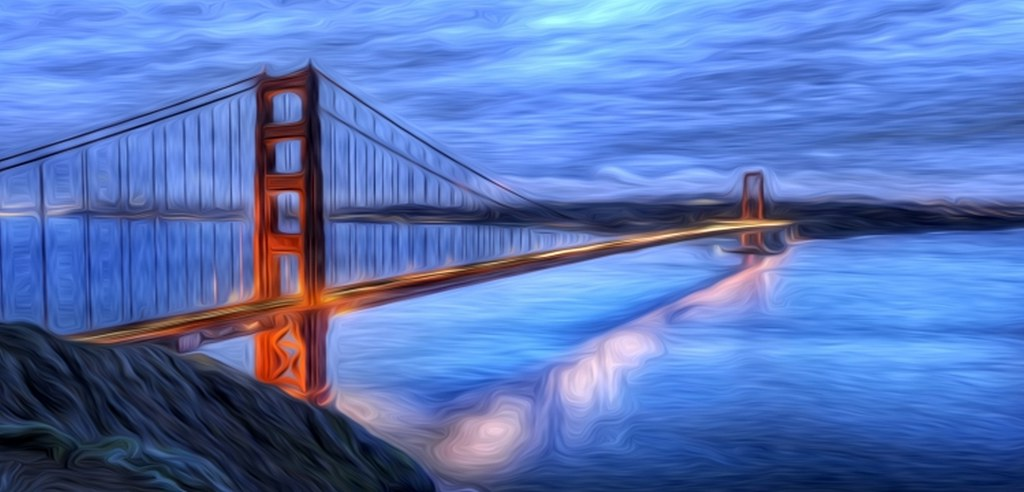 Golden Gate Bridge Oil Painting 2 Oil Painting By Fred