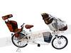 250-010-JOKER傑克外銷日本豪華親子車JA02-內變3速-前20後22輪胎(含前後親子椅)-白