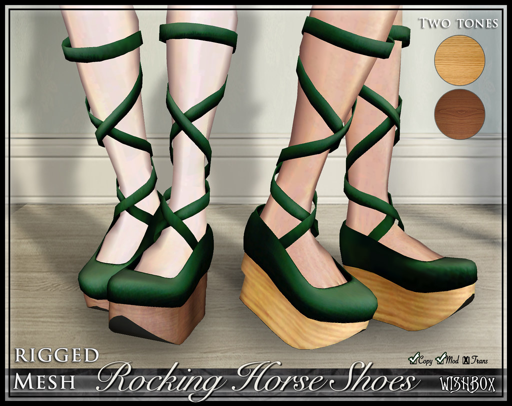 Rocking Horse Shoes (Leaf Green)