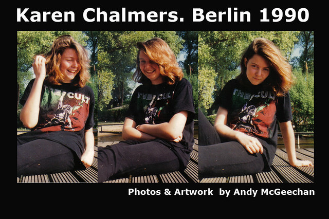 Karen Chalmers at Wannsee in Berlin May 1990