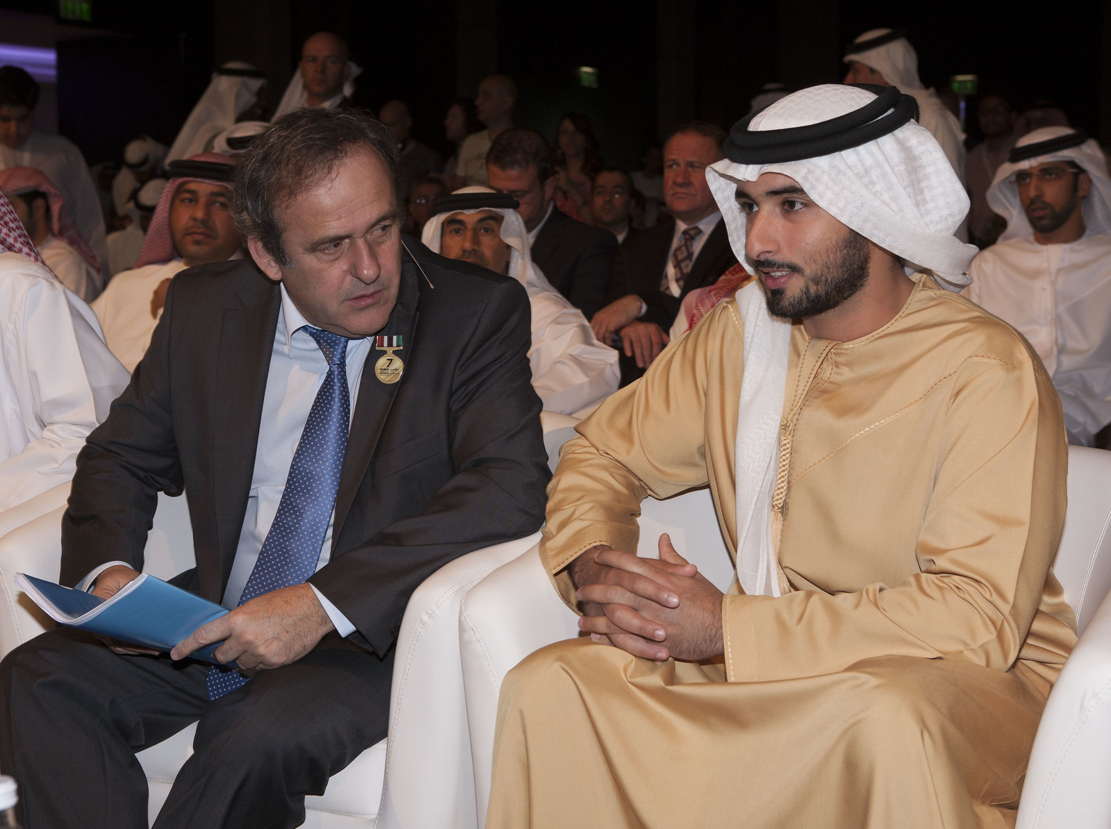 Michel Platini and Sheikh Al Maktoum