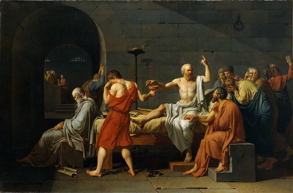 Jacques-Louis David - The Death of Socrates [1787]