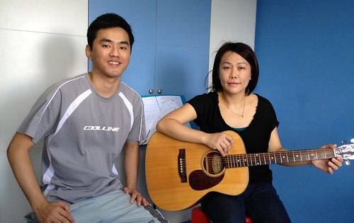 Adult guitar lessons Singapore Pamela